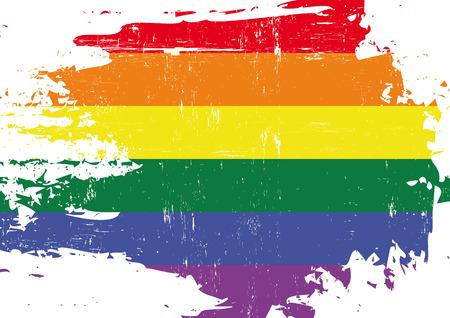 bandera gay: Una bandera de la cultura gay con una textura grunge