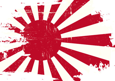 historic world event: A flag of Japan war with a grunge texture