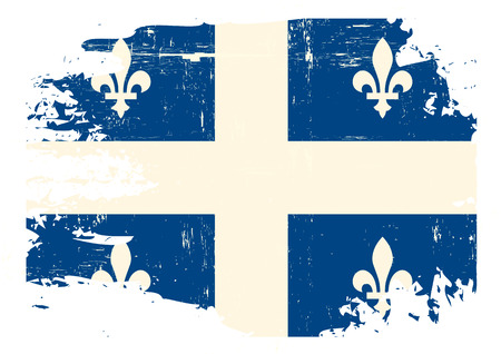 A flag of Quebec with a grunge texture Vector