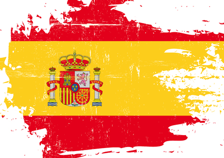 A flag of Spain with a grunge texture