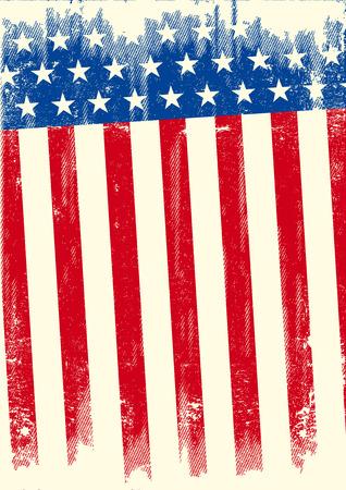 bandera estados unidos: Una bandera del grunge americano para un fondo de un cartel. Vectores