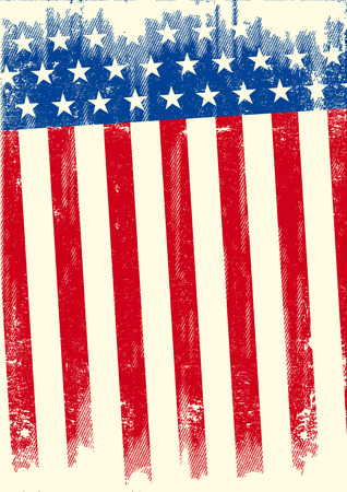 An american grunge flag for a background of a poster.