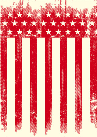 americas: A red american flag with a texture