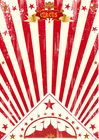 A vintage circus poster for your company Illustration