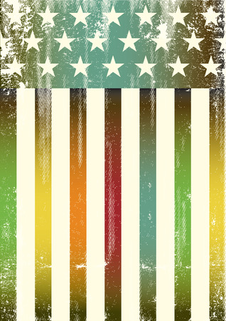 An american rainbow color flag for a background of a poster. Illustration