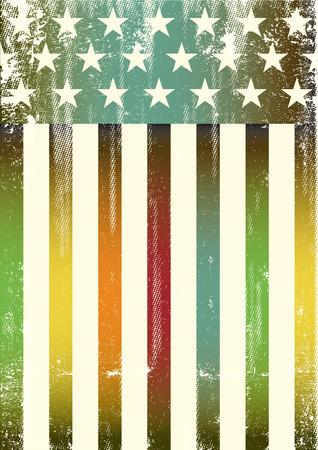 bandera gay: Una bandera arco iris de colores americanos para un fondo de un cartel. Vectores