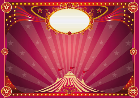 cabaret stage: An horizontal purple circus background for your show. Illustration