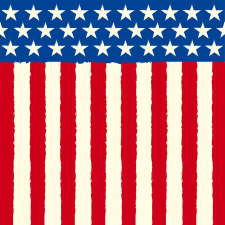 リーフレットやグリーティング カードの正方形アメリカの背景