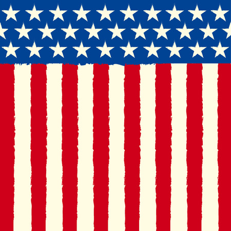 banderas america: Un fondo americano cuadrado para un folleto o una tarjeta de felicitación Vectores