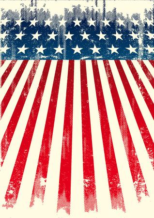 american poster: Un cartel americano para usted. Disfrute. Vectores