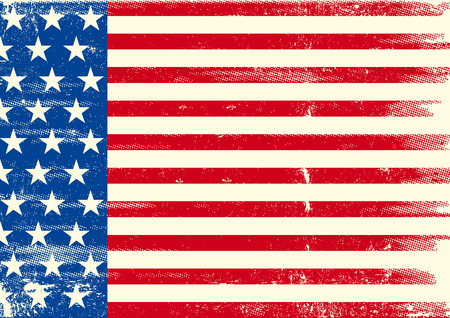 used: An horizontal american grunge flag for you.