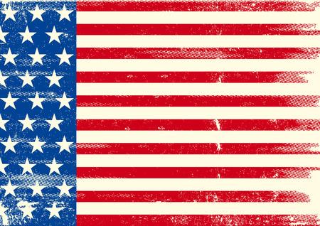 horizontal: An horizontal american grunge flag for you.