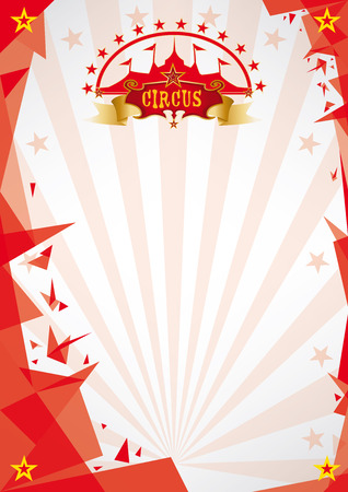 A circus futuristic background, origami style, for your poster. Enjoy