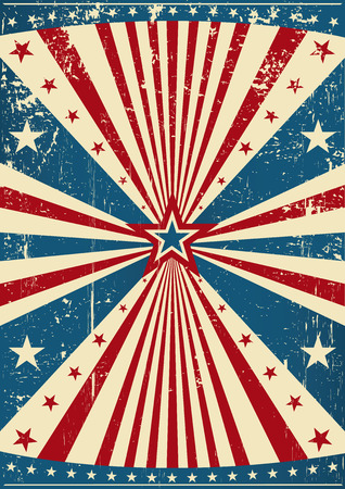 patriotic: A grunge patriotic poster for you. Illustration