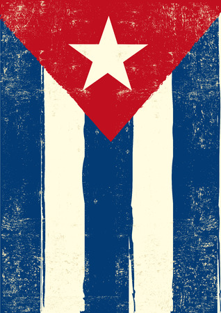 an island tradition: A cuban grunge poster for you. Illustration