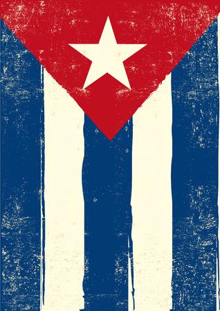 cuban flag: A cuban grunge poster for you. Illustration