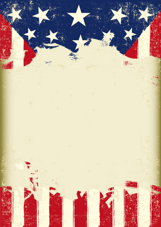 spangled: An american grunge flag for you with a large frame for a message