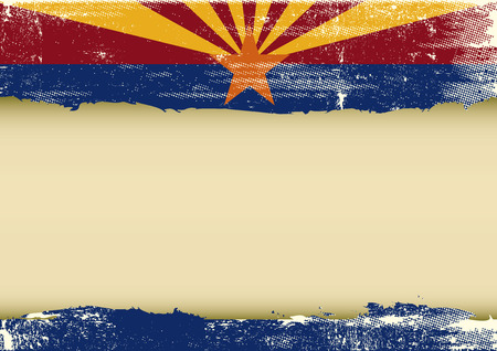 tucson: A  background with a scratched flag of Arizona and a frame for your message
