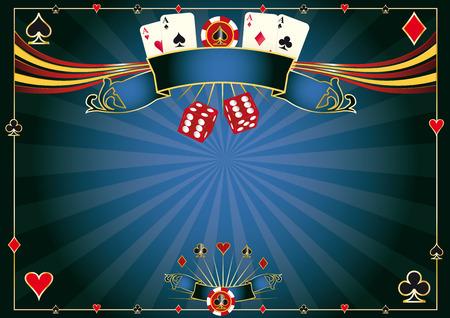 あなたのパッドまたは画面のカジノ水平背景  イラスト・ベクター素材