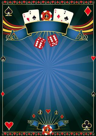 포커 토너먼트를위한 포스터 일러스트