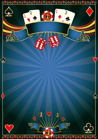 poker cards: A poster for your poker tournament