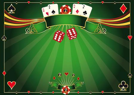 tourney: A casino horizontal background for your poker tour Illustration