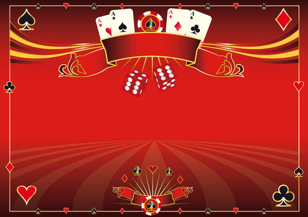 A red casino horizontal background for your pad or your screen Vector