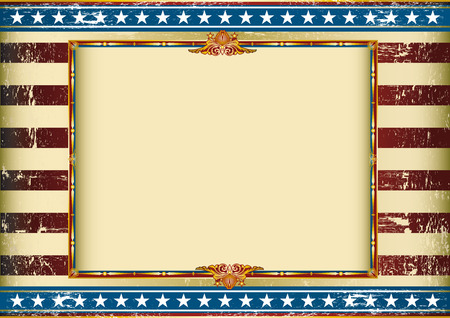 Old american background with a frame and a texture. Great background to make use of an advertising. See another illustrations like this on my portfolio.