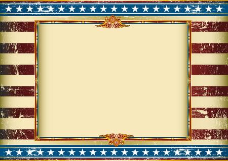 Vieux fond américain avec un cadre et une texture. Grand fond à faire usage d'une publicité. Voir autres illustrations de ce genre sur mon portefeuille. Banque d'images - 41068365