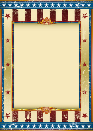 patriotic: Old american background with a frame and a texture.