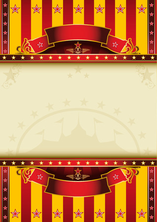 revue: A circus poster with a large frame for your message