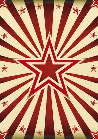 sunbeams background: A vintage sunbeams background with a big star in the center Illustration