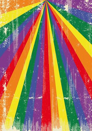lesbienne: Une affiche gay vintage avec des rayons de soleil et aa texture pour votre publicit�
