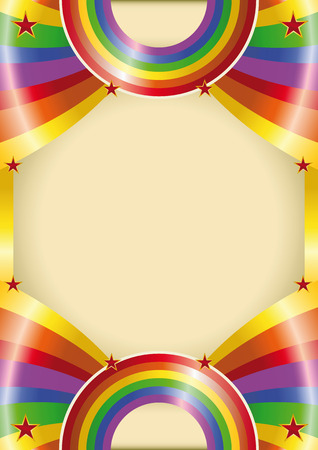 A rainbow color poster for your advertising Vector