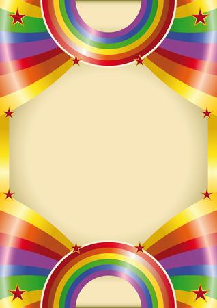 Een regenboog kleur poster voor uw reclame
