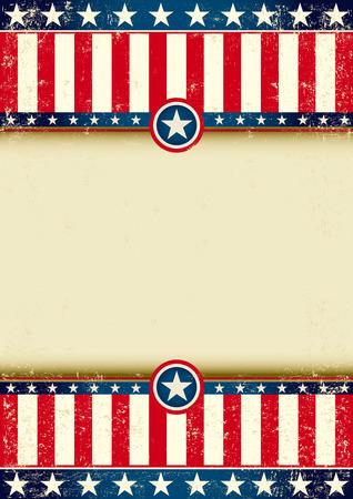 publicity: Un fondo conuna gran marco americano para su publicidad