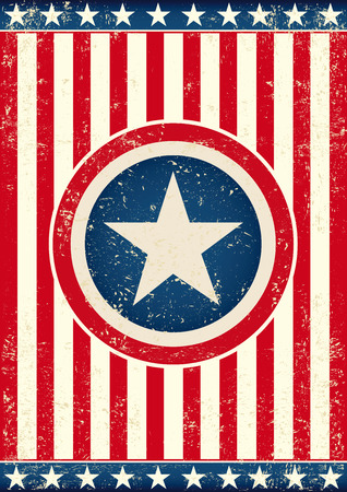 spangled: An american background with a big star for your publicity
