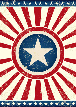 spangled: An american background with a big star and sunbeams for you