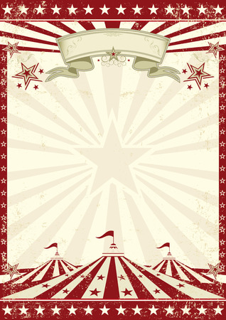 vintage postcard: A vintage circus background with sunbeams for your entertainment