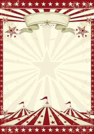 card background: Uno sfondo vintage circo con raggi di sole per il vostro divertimento Vettoriali