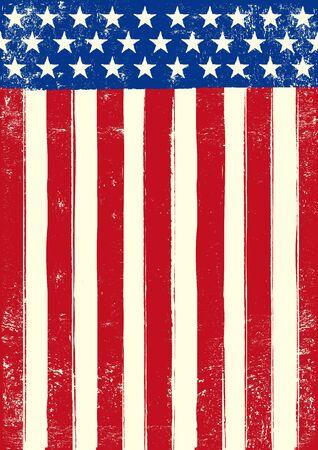 spangled: An american grunge flag for you Illustration