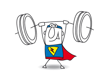 weight lifter: This superhero is very strong. He is a weight lifter