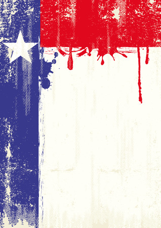 houston flag: A texas flag with fresh painting and a grunge texture for your publicity