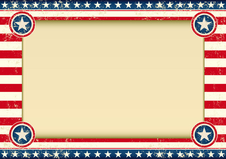 publicity: An american background with a large empty frame for your publicity
