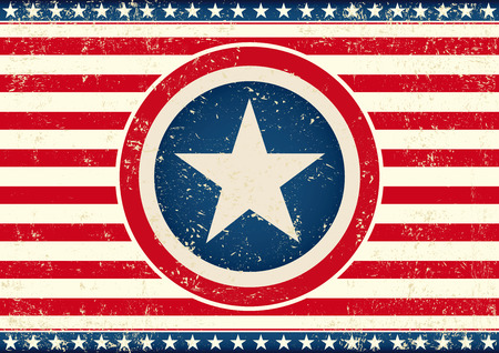 publicity: An american horizontal background with a big star for your publicity