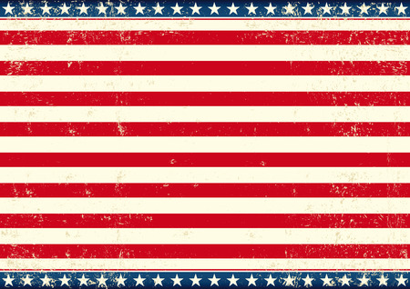 american flag: An american horizontal background for your publicity Illustration