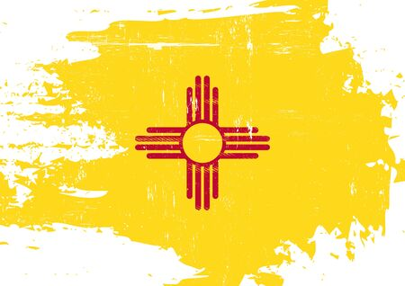 new mexico: A flag of New Mexico with a grunge texture