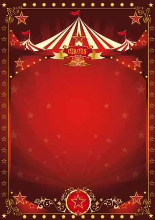 A circus background with a large copy space and a big top for your message.