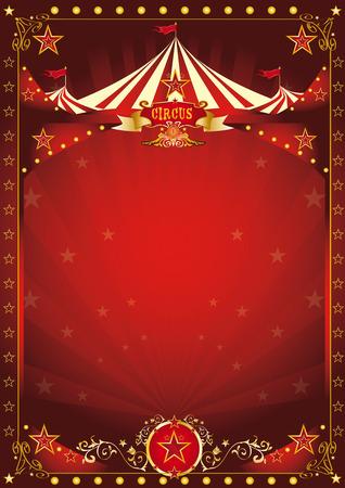 circo: Un fondo de circo con una copia espacio grande y una gran carpa para su mensaje. Vectores
