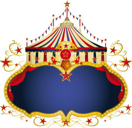 circus: A circus frame with a big top and a large copy space for your message.